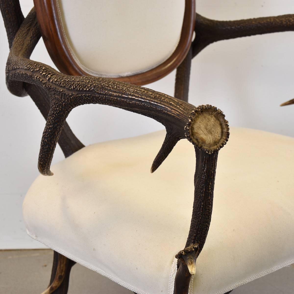 Decorative Deer Antler Hunting Chair Antique Furniture