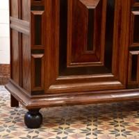 Dutch rosewood cupboard on bun feet