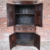 Four Doors Walnut Cabinet