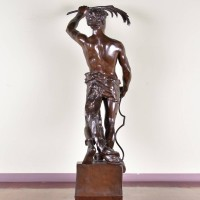 Antique bronze Statue
