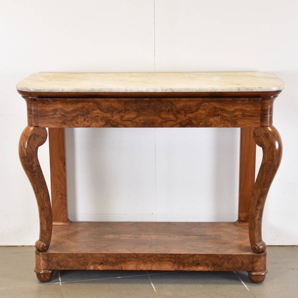 Antique Flamed Walnut Console
