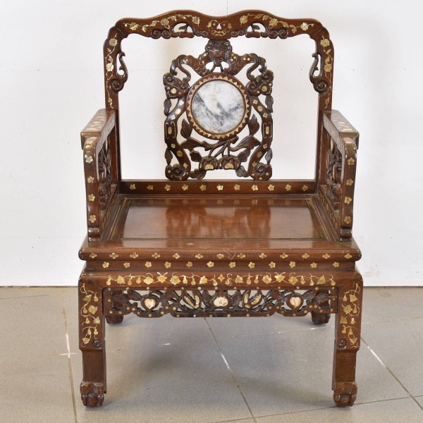 Antique Inlaid Chinese Chairs
