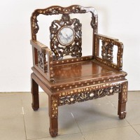 Inlaid Chinese Chairs with marble insetInlaid Chinese Chairs