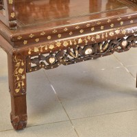 Inlaid with mother of pearl chinese chair