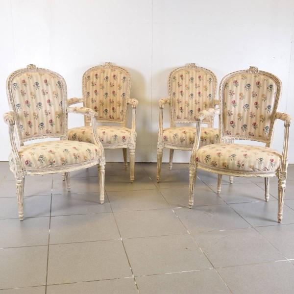 Set of Antique Louis XVI Armchairs
