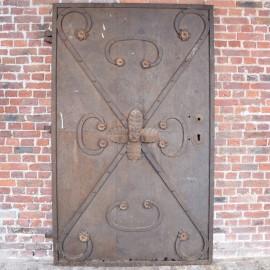 Antique German Iron Decorative Door