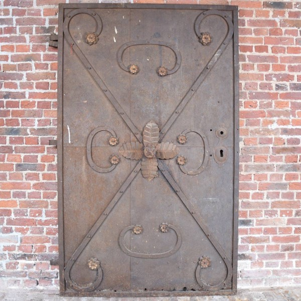 Antique German Iron Decorative Door