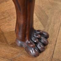 Lion Paw Feet mahogany Gueridon