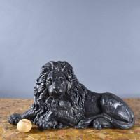lion Andirons / boot scraper