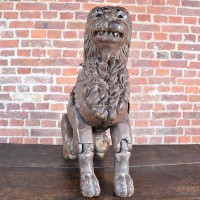 Carved Articulated Lion