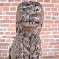 Decorative Carved Wood Lion