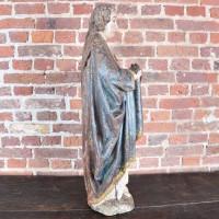 Bishop Ulrich of Augsburg wooden statue