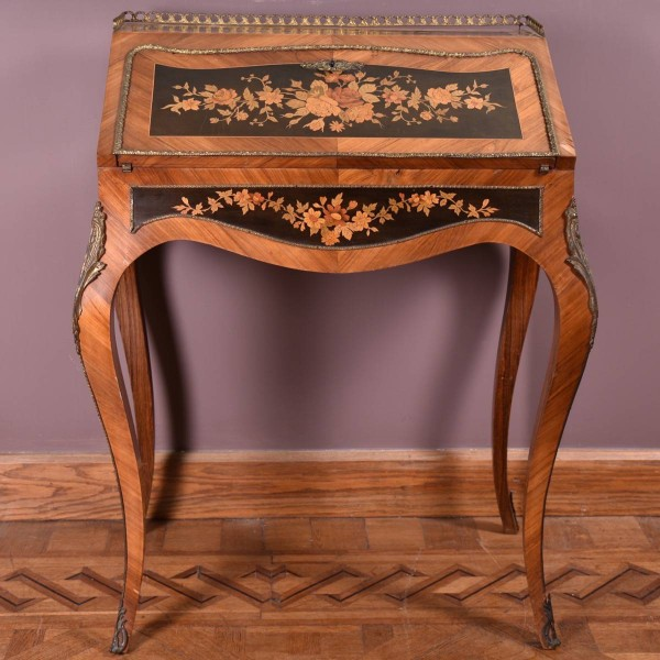 Antique French Marquetry Bureau