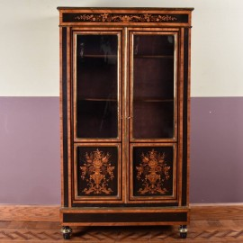 French display cabinet inlaid Marquetry