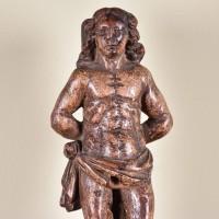 Haute époque Saint Sebastien statue