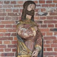 Carved Saint Rochus Sculpture
