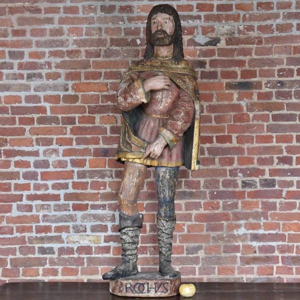 South European Saint Rochus Sculpture
