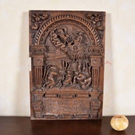 17th century flemish oak relief1
