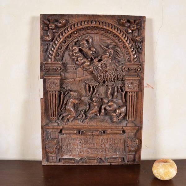 17th century flemish oak relief1