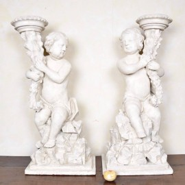 Pair of German Grotto Figures