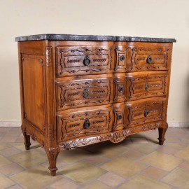 Antique Walnut Chest of Drawers marble top