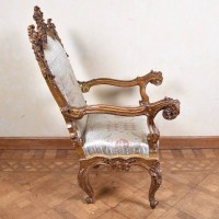 Carved important Italian Armchair