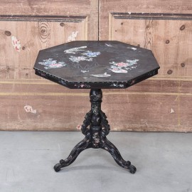 antique black lacquer table