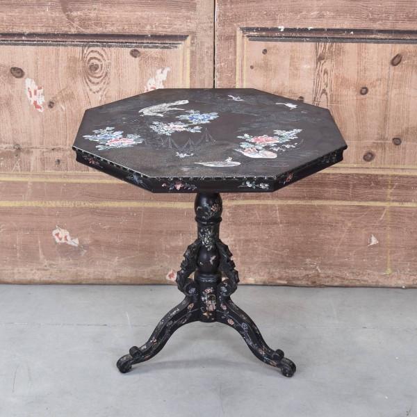 antique black lacquer table