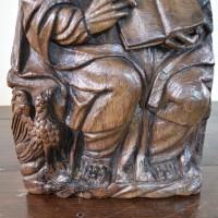 17th Century Oak Flemish Figure.