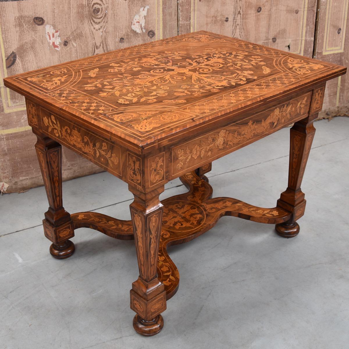 dutch marquetry table paul de grande antique. Black Bedroom Furniture Sets. Home Design Ideas