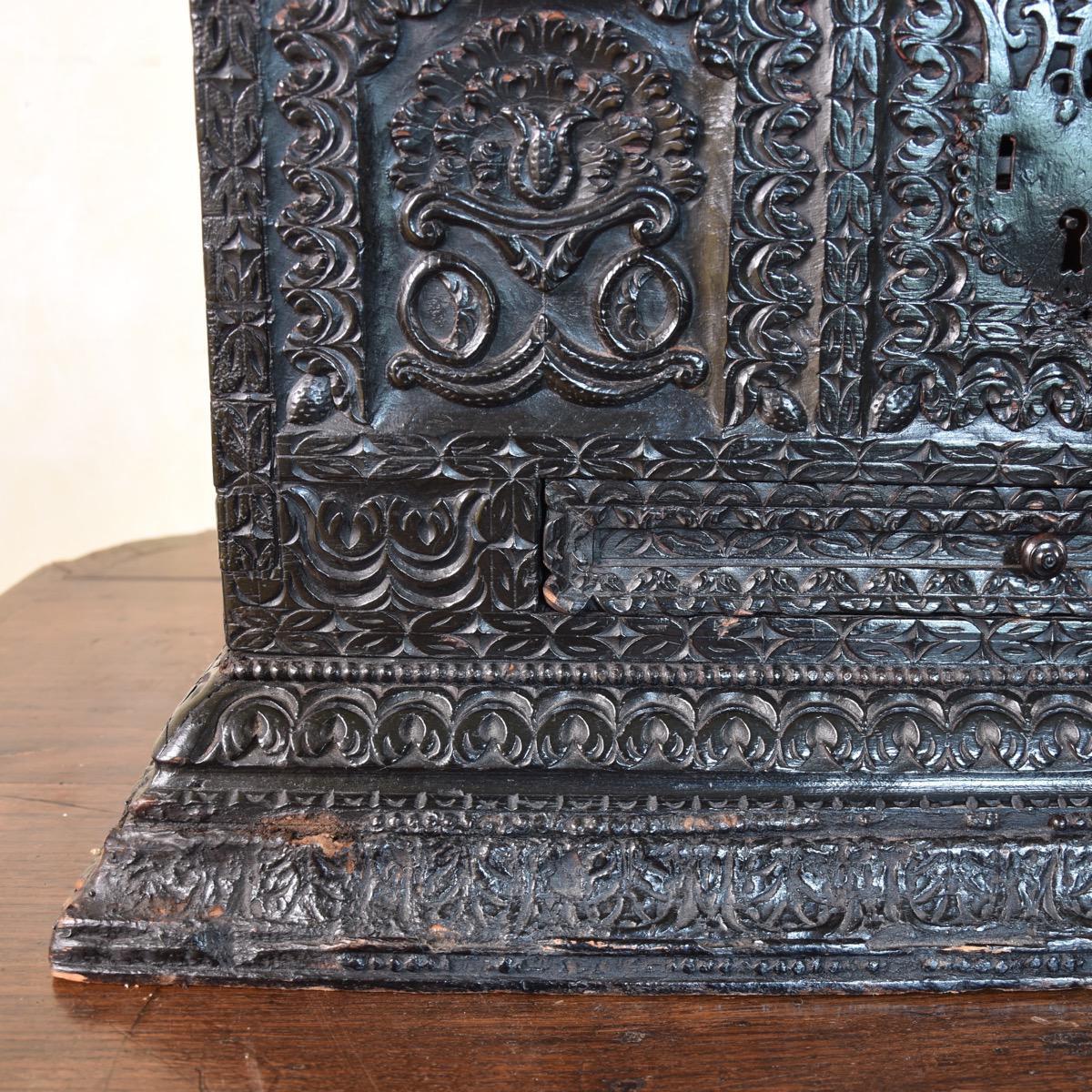 Carved Coffer Paul De Grande Antique
