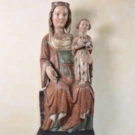 Haute Epoque French Madonna with Child. Circa 1500