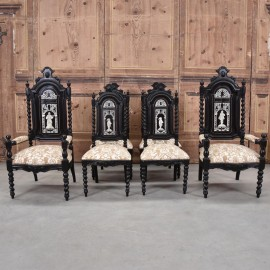 Antique Set of Italian chairs and Armchairs