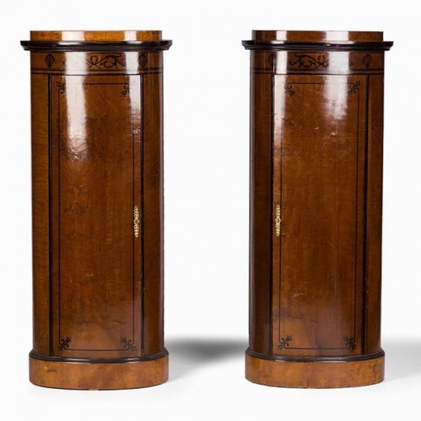 Pair of Danish pedestals, circa 1800