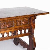 Antique Spanish walnut table