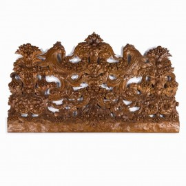 A carved wood, early 18th century panel