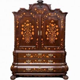 Dutch marquetry cabinet. Circa 1800