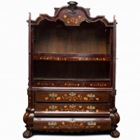 Dutch marquetry cabinet. 1800