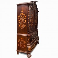 Dutch marquetry cabinet