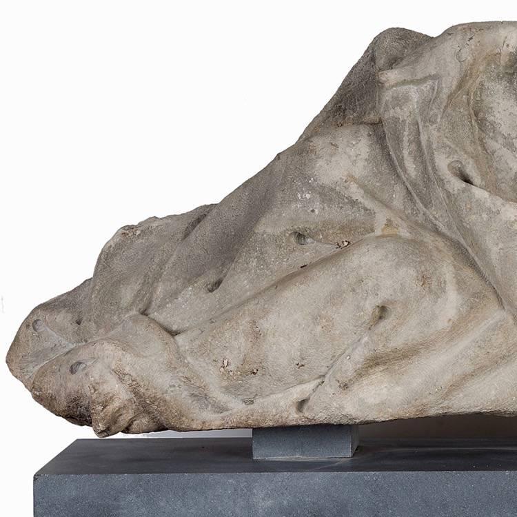 Limestone carved figure of father time paul de grande