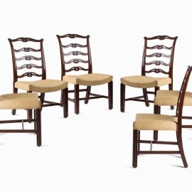 Set of mahogany George III chairs