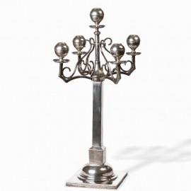 Silver candelabra, circa 1920-1930