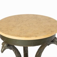 Antique small Gueridon with marble top