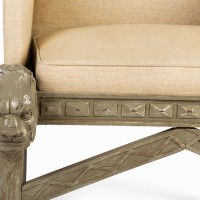 Antique Decorative Armchair Close Up