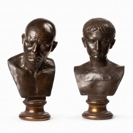 pair of bronze busts, circa 1800