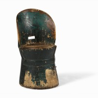 Antique Swedish dug out chair