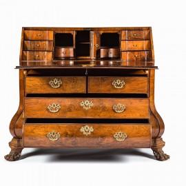 Antique Dutch Walnut Bureau 18th C