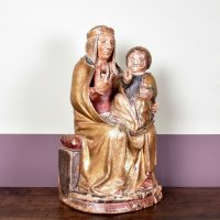 15th century – Polychromed Virgin and child