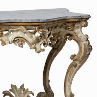 18th C Important console with marble top