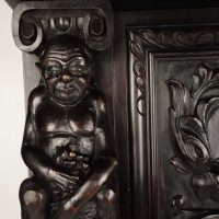 carved cabinet circa 1900